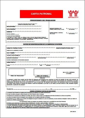 Carta patronal de crédito de infonavit