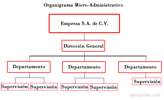 Ejemplo de Organigrama Micro-Administrativo