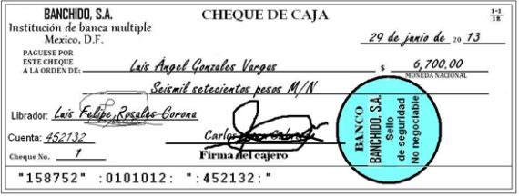 Cheque de caja
