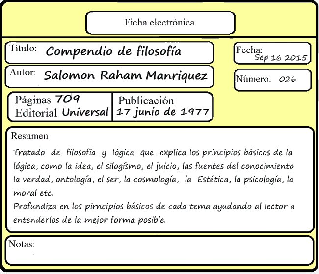 Ejemplo De Ficha Electronica
