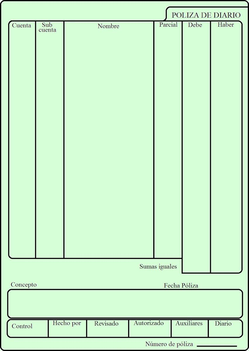 formato de periodico para llenar