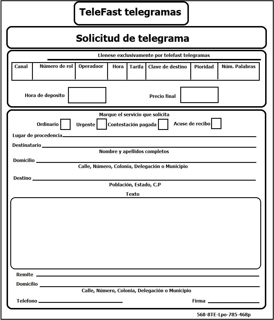 Estructura de un Telegrama