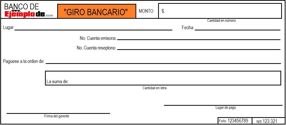 Ejemplo De Giro Bancario