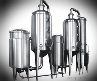 Ejemplo de condensador: en Evaporador Doble Efecto