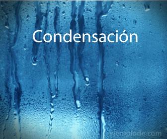 La condensación es el paso del estado gaseoso al sólido.