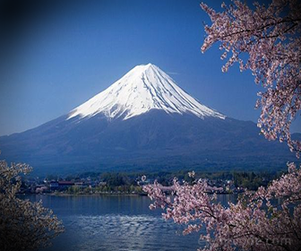 El Monte Fuji está a 3776 metros sobre el nivel del mar