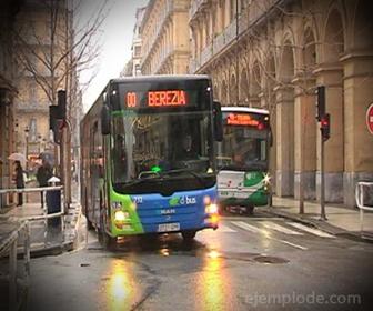 Ejemplo de Movimiento Absoluto, Autobús