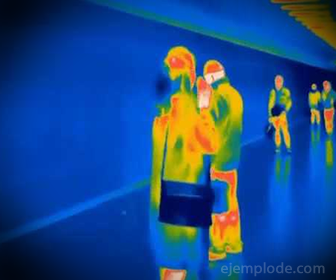 Vista de una cámara con visión infrarroja