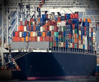 Poleas en Barco carguero