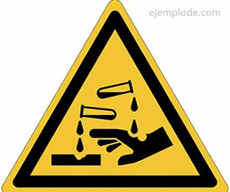 Pictograma de Sustancias Corrosivas