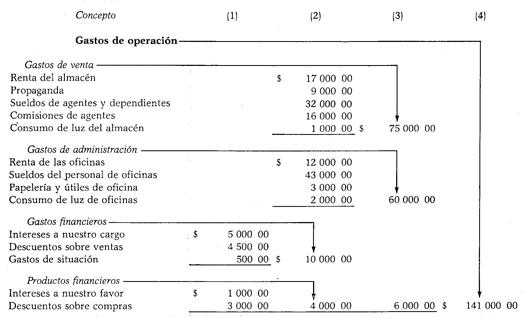 Ejemplo de gastos de operaci n for Manual de operaciones de un restaurante ejemplo