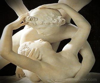 Representación de Eros y Psique