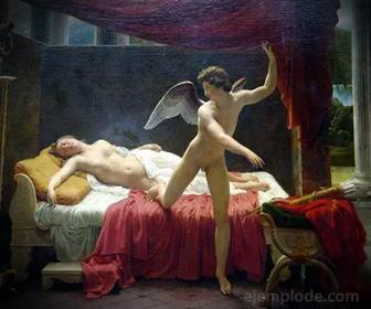 Visitas de Cupido (Eros) a Psique