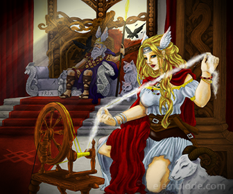 Diosa Nordica Frigg, Esposa de Odin