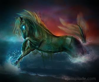 Primer caballo del mundo, creado por Poseidon