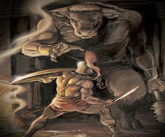 Minotauro, asesinado por Teseo