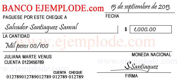 Ejemplo de cheque Bod solicitud de chequera