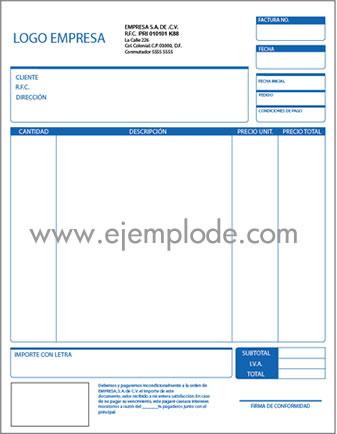 Ejemplo de factura en illustrator for Diseno de facturas