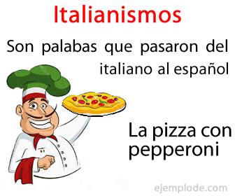 Son palabras italianas aceptadas en español.