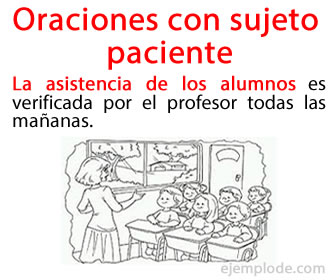 En las oraciones con sujeto paciente, el sujeto recibe la acción, estado o proceso del verbo.