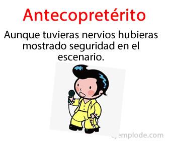 Un antecopretérito o pretérito pluscuamperfecto, da el tiempo compuesto del copretérito.