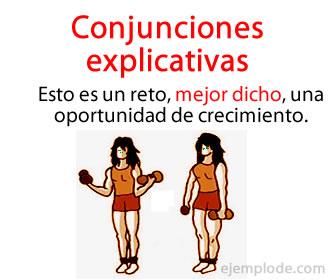 Las conjunciones explicativas también llamados nexos explicativos, son palabras que se utilizan para unir dos sintagmas u oraciones de manera que uno explica o añade información que aclara de la idea del otro.