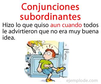 Las conjunciones subordinantes son aquellas conjunciones que unen dos oraciones y crean entre ambas una relación de subordinación.