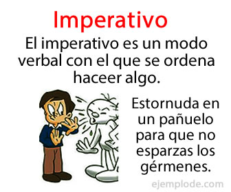 En el modo imperativo el hablante expresa una petición, un ruego, una orden o un mandato dirigido hacia alguien.