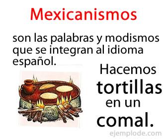 Los mexicanismos son palabras, frases que se integran al español y que son originarios de México.