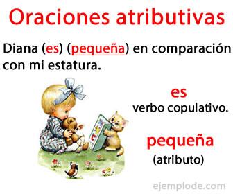 Las oraciones atributivas, son aquellas que contienen en el predicado un verbo copulativo y un atributo.