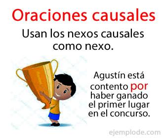 Las oraciones causales son aquellas oraciones que son introducidas por algún nexo causal, como pueden ser las conjunciones causales o locuciones que tienen un sentido causal.
