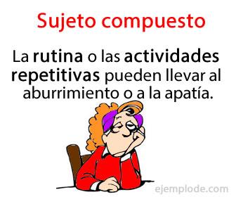 El sujeto compuesto es el tipo de sujeto que contiene más de un núcleo; es decir, más de un nombre o sustantivo que tiene la función de ejecutar o padecer lo dicho por el verbo.