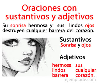 Ejemplo De Oraciones Con Sustantivos Y Adjetivos