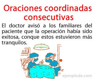 Las oraciones coordinadas consecutivas son aquellas oraciones coordinadas que se encuentran enlazadas por medio de una conjunción consecutiva.