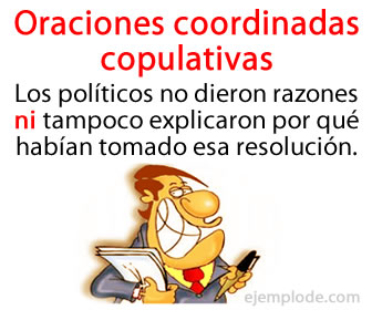 Las oraciones coordinadas copulativas son un tipo de oraciones coordinadas que se encuentran unidas por una conjunción copulativa, las cuales son y, e, ni.