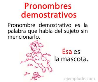 Los pronombres son las palabras que nos sirven para referirnos al sujeto sin mencionarlo.