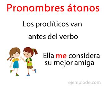 Pronombres átonos proclíticos