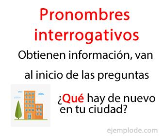 Pronombres interrogativos, obtienen información