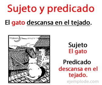 El sujeto y el predicado son partes de la oración en español.