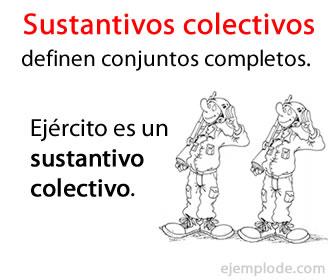 Los sustantivos colectivos definen a conjuntos de individuos o cosas