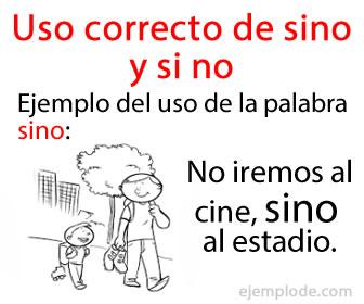 El uso correcto de si no y sino debe distinguirse claramente en español.