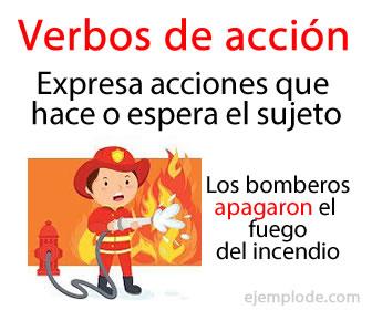 Son los verbos que expresan una acción que hace o puede hacer el sujeto del enunciado.