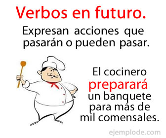 Los verbos en futuro expresan una acción que se realizará o se puede realizar.