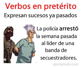 Los verbos en pretérito son los verbos que relacionan la acción que expresan con un tiempo anterior o pasado.