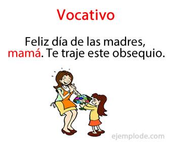 El vocativo es una o varias palabras con las que el hablante llama la atención de la persona a la cual se dirige.