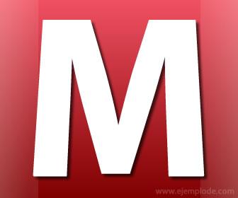 Imagen de la letra M