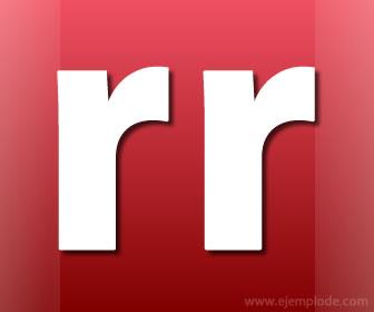 Letra rr, doble r