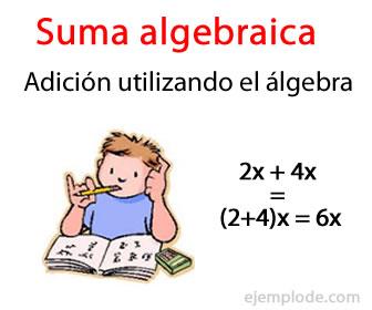 La suma algebraica sirve para sumar el valor de dos o más expresiones algebraicas.