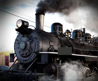 Locomotora de vapor calentado por carbón.