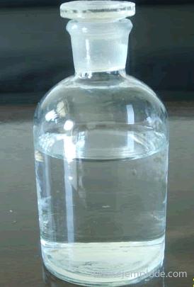 Botella con ácido clorhídrico